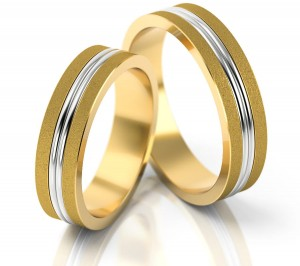 Pair of gold  wedding rings model 148