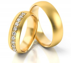 Pair of gold  wedding rings model 071