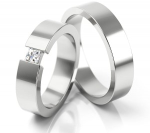 Pair of gold  wedding rings model 164