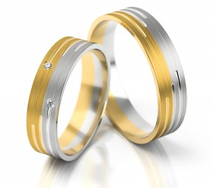 Pair of gold  wedding rings model 225