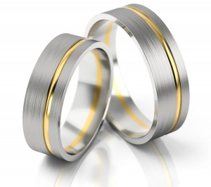 Pair of gold  wedding rings model 139