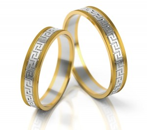 Pair of gold  wedding rings model 248