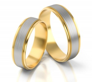 Pair of gold  wedding rings model 089