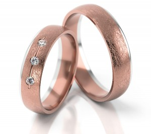 Pair of gold  wedding rings model 264