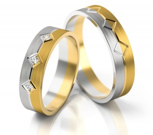 Pair of gold  wedding rings model 227