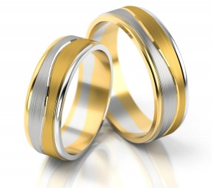 Pair of gold  wedding rings model 140
