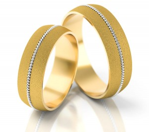 Pair of gold  wedding rings model 064