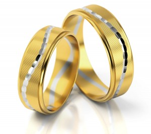 Pair of gold  wedding rings model 171