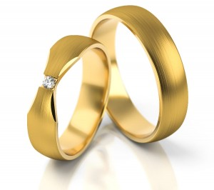 Pair of gold  wedding rings model 263