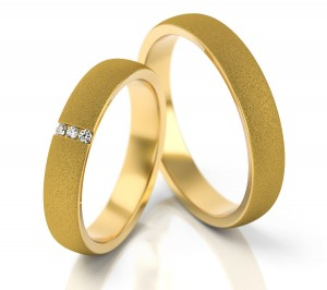 Pair of gold  wedding rings model 261