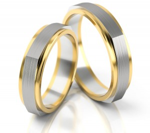 Pair of gold  wedding rings model 211