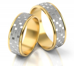 Pair of gold  wedding rings model 165