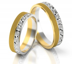 Pair of gold  wedding rings model 144