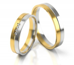 Pair of gold  wedding rings model 224