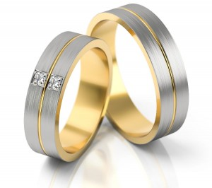 Pair of gold  wedding rings model 245