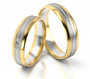 Pair of gold  wedding rings model 240