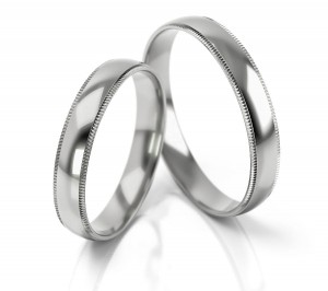 Pair of gold  wedding rings model 290