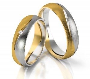 Pair of gold  wedding rings model 247