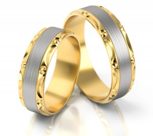Pair of gold  wedding rings model 151