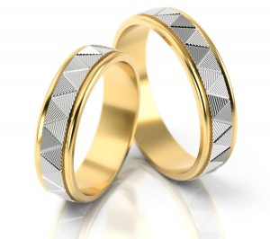 Pair of gold  wedding rings model 095