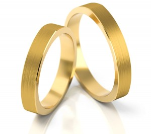 Pair of gold  wedding rings model 198