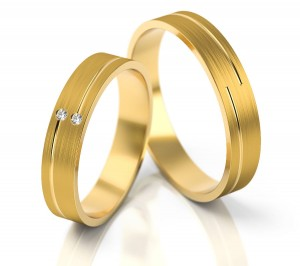 Pair of gold  wedding rings model 210