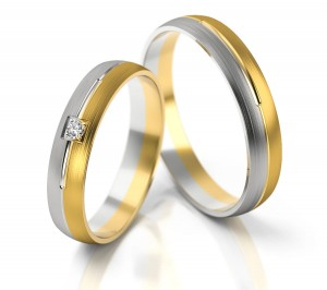 Pair of gold  wedding rings model 236