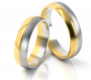 Pair of gold  wedding rings model 120