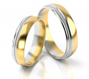 Pair of gold  wedding rings model 254