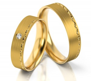 Pair of gold  wedding rings model 272