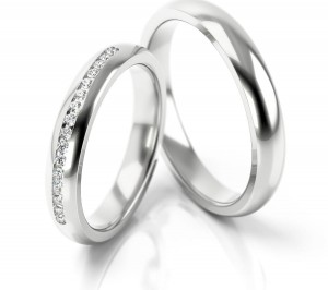 Pair of gold  wedding rings model 277