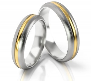Pair of gold  wedding rings model 168