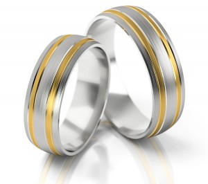 Pair of gold  wedding rings model 137