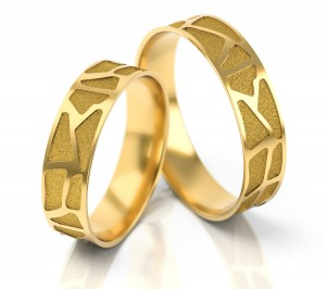 Pair of gold  wedding rings model 271