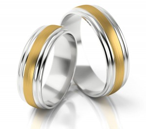 Pair of gold  wedding rings model 135