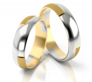 Pair of gold  wedding rings model 073