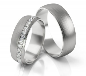 Pair of gold  wedding rings model 292