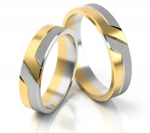 Pair of gold  wedding rings model 055