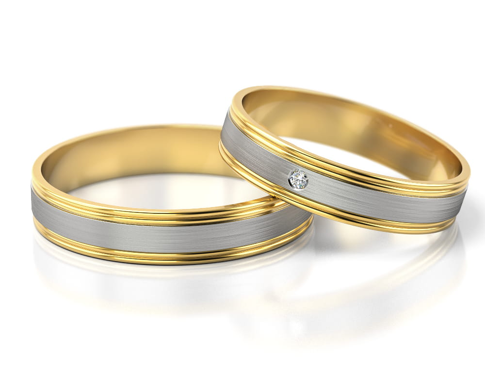 Pair of gold wedding rings model 294 Jewellery 4 YOU.eu